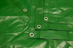 Medium Green Poly Tarp from Tarps Online