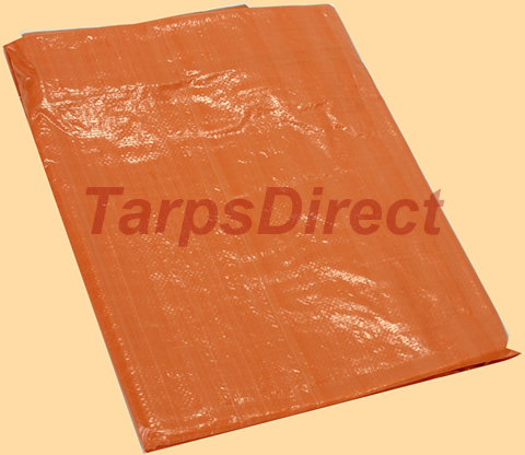 Orange Poly Tarp from Tarps Online