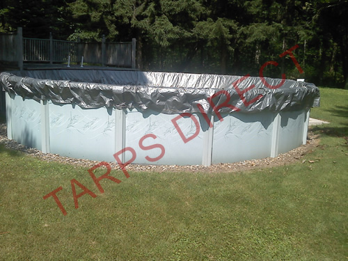 Poly and Vinyl Round Tarp from Tarps Online