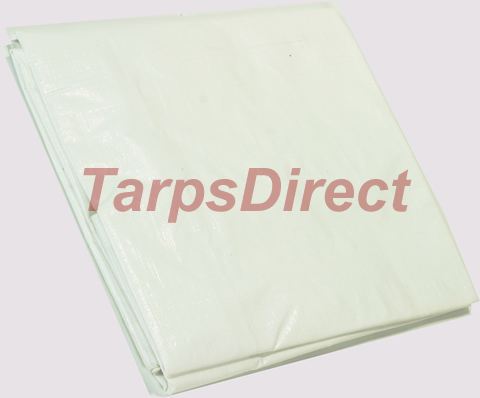 Heavy Duty White Poly Tarp from Tarps Online