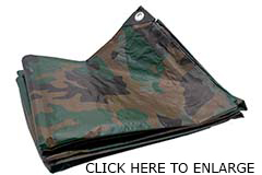 Green Camouflage Poly Tarps From Tarps Online